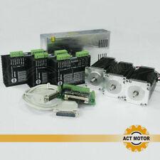 ACT 3Axis Nema23 stepper 23HS2430 3A 112mm 425oz-in φ8mm Schrittmotor CNC Kit