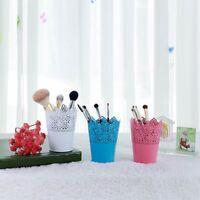 Lace Flower Brush Storage Pen Pencil Pot Holder Container Desktop Organizer Case
