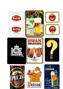 """9 x OLD & NEW """"World Beers/Breweries"""" SINGLE Playing Cards #b"""
