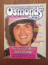 OSMONDS WORLD Issue № 42 April 1977 UK Monthly Music Magazine