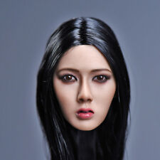 "YMTOYS 1/6 Xiu Long Black Hair Asian Female Head Carving F 12"" Phicen Figure Toy"