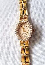 Vintage Geneve Diamond 14K Solid Yellow Gold Ladies Quartz Watch 20.8 Gr Working