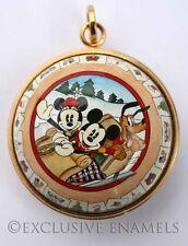 Halcyon Days Enamels Disney Mickey Sledging Christmas Ornament