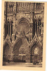 51 - cpa - REIMS - Le grand portail de la cathédrale