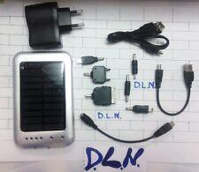 CARICABATTERIA SOLARE UNIVERSALE 2600 MAH  X CELLULARI MP3 MP4 IPOD USB GPS