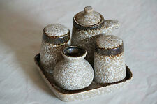 5 Pieces Japanese Dining Set - Salt, Pepper, Toothpick and Soya Source