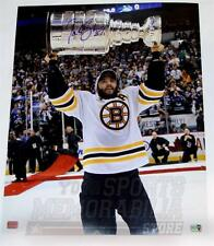 Patrice Bergeron Boston Bruins Signed Autographed raising Stanley Cup 16x20