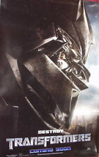 Cinema Poster: TRANSFORMERS 2007 (Advance 'Destroy' One Sheet) Shia LaBeouf