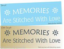 Joanie Stencil Memories Stitched Love Country Prim Craft Art Quilt Star Signs