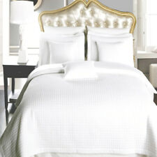 Luxury Checkered Quilted Wrinkle Free White 3 Pc Microfiber Coverlet Sets