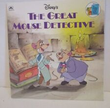 DISNEY THE GREAT MOUSE DETECTIVE GOLDEN LOOK BOOK PAPERBACK STORYBOOK 1986