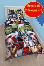Marvel Comics Bouclier des Vengeurs Simple couette Réversible Set Housse de