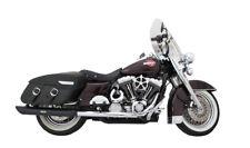 1995-2016 Harley-Davidson Touring Black Slash Cut Baffled Exhaust Pipes