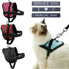 Kitten Kitty Cat Harness Soft Vest Puppy Walking Harness W/ Removable Patch S M