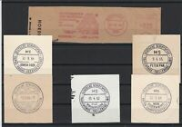 German Shipspost Stamps Cancels on Piece Ref 23887