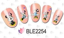 Nail Art Water Decals Stickers PINK Mickey Mouse Minnie Mouse Bows (2254)
