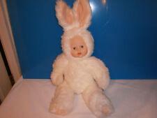 "White Furry Rabbit Doll,18"" Tall"