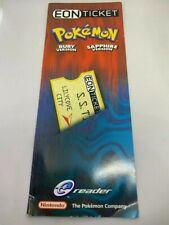 ORIGINAL Pokemon Nintendo E-READER ION TICKET UNUSED RARE!!
