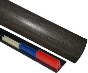 Wickes Novacore Emboss Dark Grey Threshold Transition Strip 38mmx0.90mtr