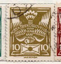Czechoslovakia 1920 Early Issue Fine Used 10f.