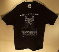 VTG Pro Player 96 Men's Baltimore Ravens Black Logo T-Shirt Size: XL Extra Large
