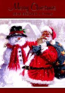 Merry Christmas Dear Brother & Family - Christmas Greeting Card - 21294