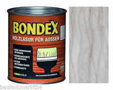 Bondex Holzlasur für Aussen Hellgrau 2,5 L Holzschutz Lasur Hellblau