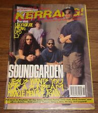 SOUNDGARDEN CHRIS CORNELL KERRANG MAGAZINE FULLY SIGNED  UACC REGISTERED DEALER