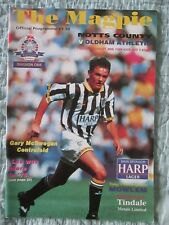 Notts County v Oldham Athletic - Division 1 - 1994/95