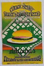 1969 CHUCK BERRY,Mike Bloomfield,Nick Gravenites,Mark Naftalin+ Concert Postcard