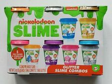 Nickelodeon Slime By Cra-Z-Art Scented 5 Fun Colors + Sparkling Add-Ins 6+ New