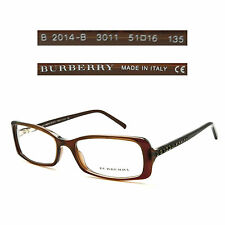 Burberry B 2014-B 3011 Eyeglasses Rx Optical - Made in Italy - Authentic New