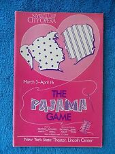 The Pajama Game - NY State Theatre Playbill - March/April 1989 - Judy Kaye