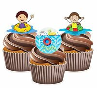 cupcake cookie topper Decorations PRE CUT 12 Little Charmers edible paper