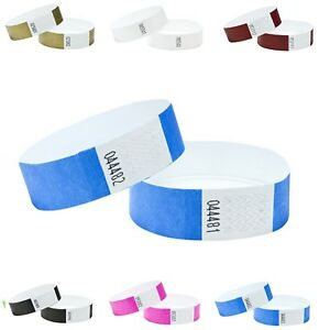 Wristbands Personalised Custom Printed Plain Security Event Numbered 100 Pack