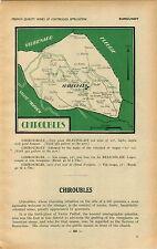 ADVERTISEMENT Burgundy Vineyard Wine Region MAP Chiroubles Beaujolais