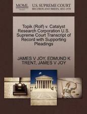 Topik (rolf) V. Catalyst Research Corporation U.S. Supreme Court Transcript O...