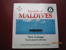 Maldivas 1984 BUNC 6 Juego De Colección De Monedas: Laari-rupias en la carpeta de Royal Mint