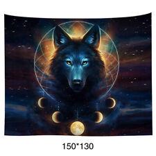 Wolf Tapestry Art Home Decor Wall Hanging Living Room Travel Picnic Blanket Dorm
