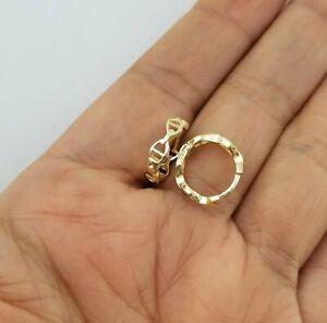14K Yellow Gold Over Baby Gucci Link Huggie Hoop Earrings