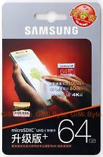 SAMSUNG EVO PLUS 64 GB micro SDXC 100MB/s Class 10 UHS-I Memory Card 64G TF U3