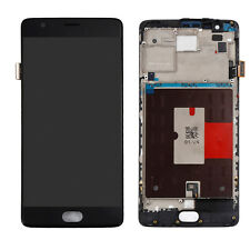 For OnePlus 3 Three 1+3 LCD Display Touch Screen Digitizer Replacement Frame