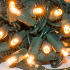 """Sun Warm White 5mm Wide Angle LED Christmas Lights 6"""" Green Wire  - String Decor"""