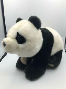 Official Trudi Bussi Panda Black White Teddy Bear Plush Stuffed Toy Animal Italy