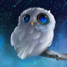 5D Diy Diamond Painting Blue Eyed Owl Cross Stitch Kit Home Decor Art Mural Gift
