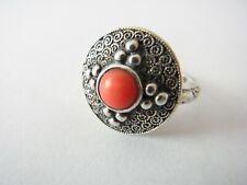 Art Deco Ring Silber 925 Koralle Theodor Fahrner