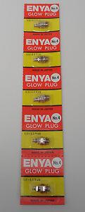Enya #4 Medium Hot Heat Nitro Glow Plug - 5 Pack