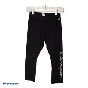Champion Leggings Black Juniors Size Small S Active wear workout exercise
