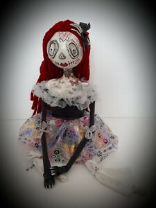 Sugar Skull Art Doll - Ruby - Mexican Festival - Day Of The Dead - spookybutcute