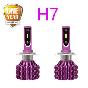 2PCs Car Headlight Pink 20000 Lumen Canbus X9 H7 White Light 6500K Car Headlamp